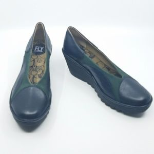 Fly London Leather Wedges - 7.5